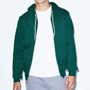 Green Flex Fleece Zip American Apparel Hoodie